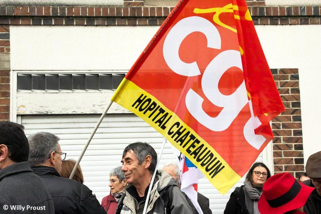 Châteaudun 17-12-2019 Manifestation Retraites [Photo Willy Proust] 1