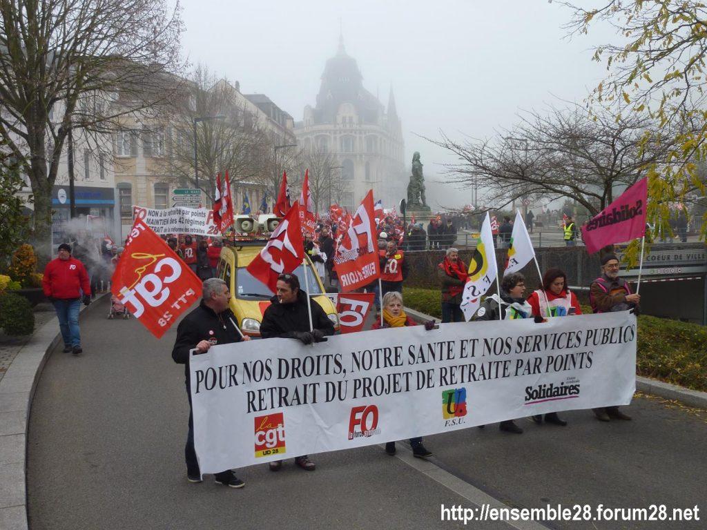 Chartres 05-12-2019 Manifestation Retraites 01