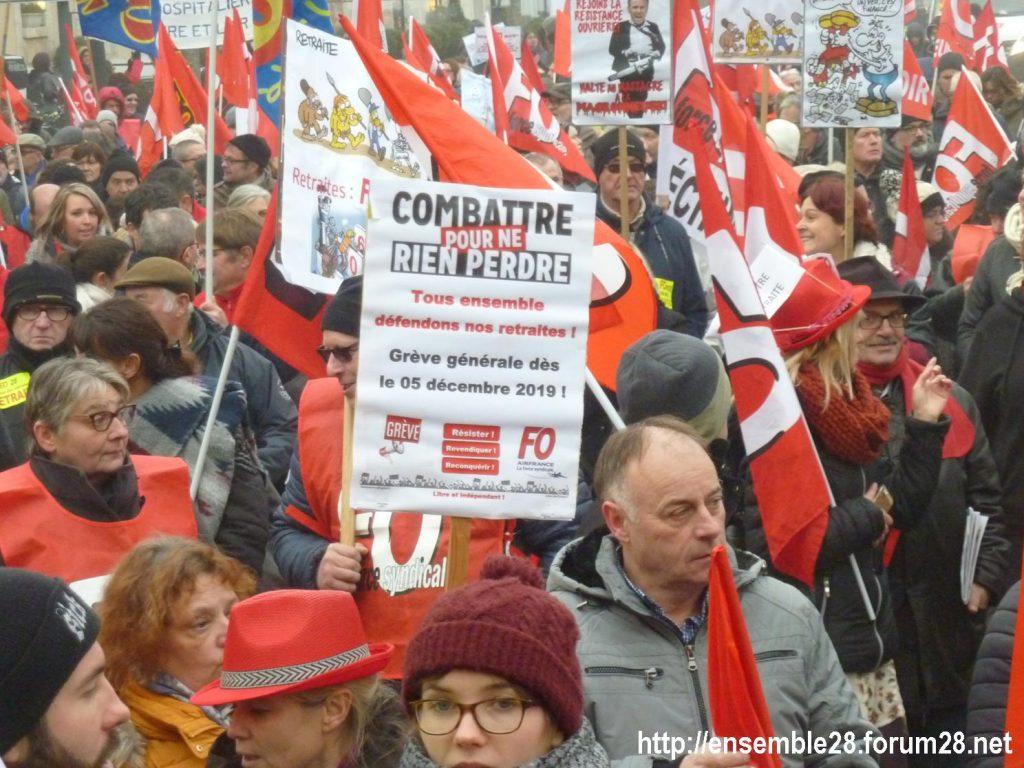 Chartres 05-12-2019 Manifestation Retraites 02