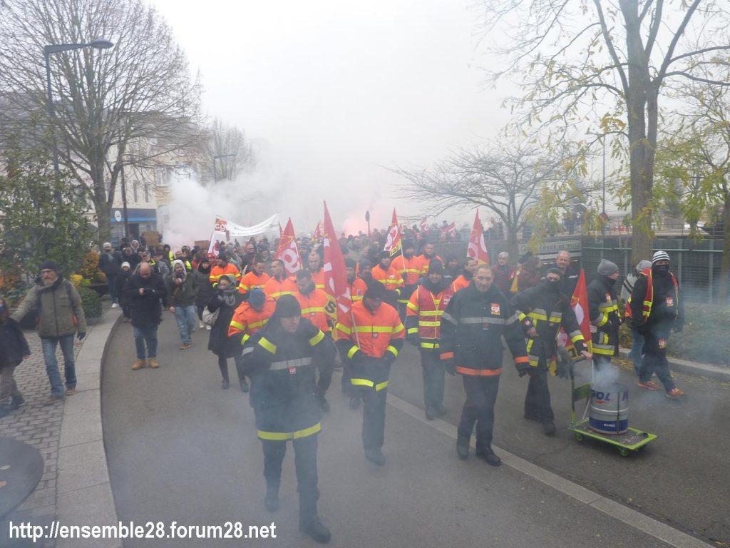 Chartres 05-12-2019 Manifestation Retraites 03