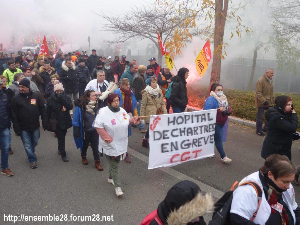 Chartres 05-12-2019 Manifestation Retraites 05