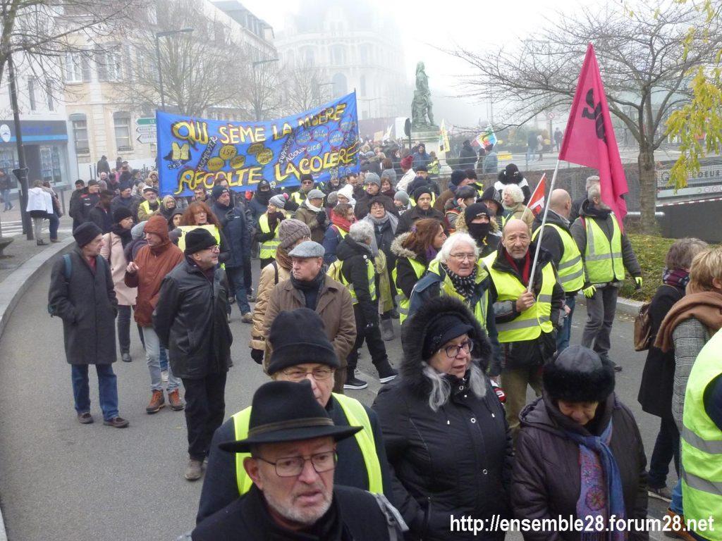 Chartres 05-12-2019 Manifestation Retraites 07