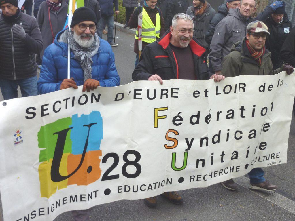 Chartres 05-12-2019 Manifestation Retraites 08