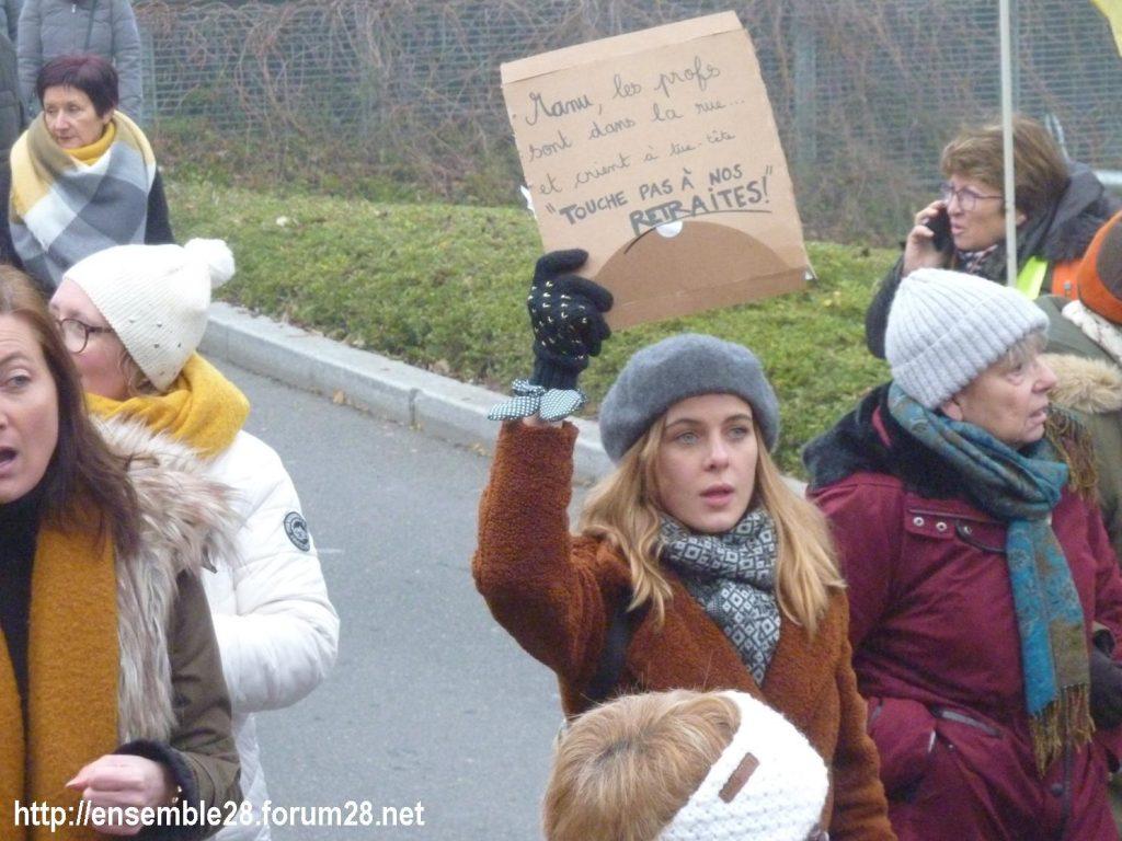 Chartres 05-12-2019 Manifestation Retraites 14