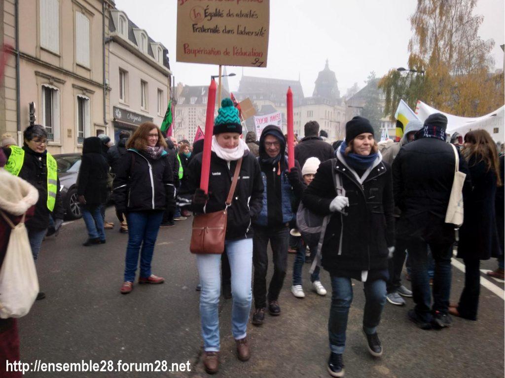 Chartres 05-12-2019 Manifestation Retraites 16