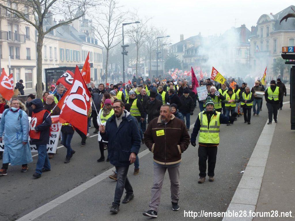 Chartres 10-12-2019 Manifestation Retraites 04