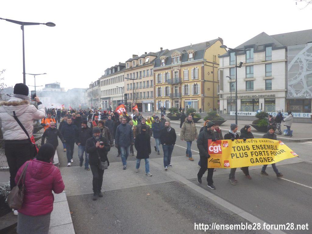 Chartres 10-12-2019 Manifestation Retraites 07