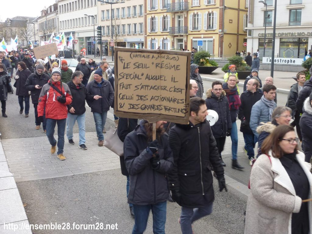 Chartres 10-12-2019 Manifestation Retraites 09