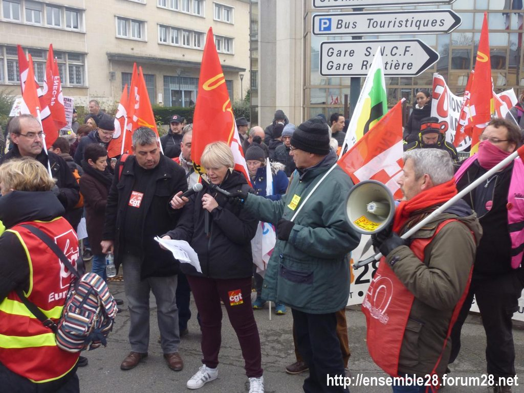 Chartres 10-12-2019 Manifestation Retraites 11