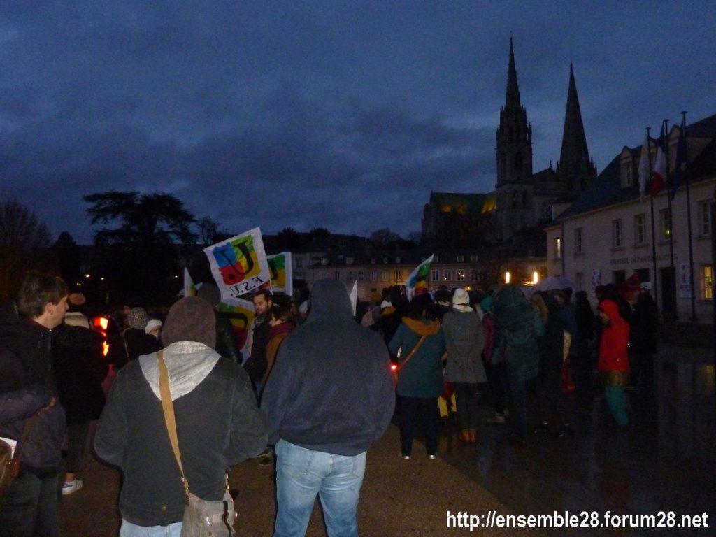Chartres 11-12-2019 Rassemblement Monument Droits de l'Homme 1