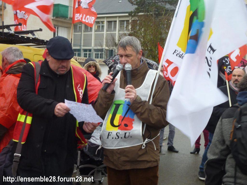 Chartres 12-12-2019 Rassemblement Retraites 01