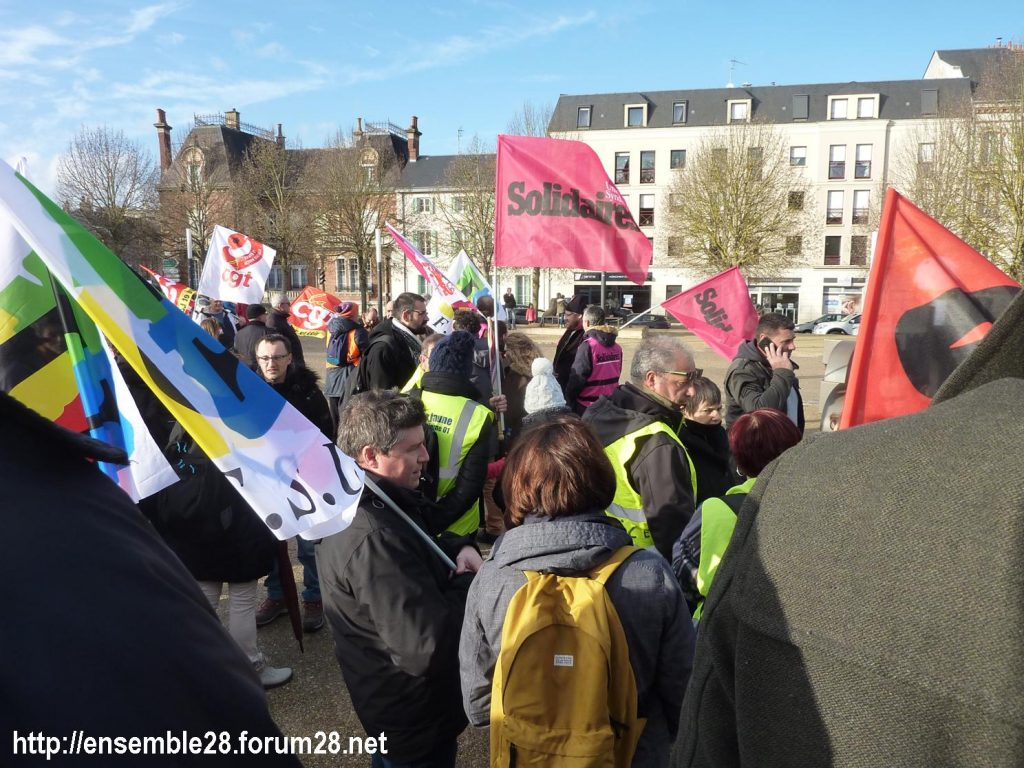 Chartres 14-12-2019 Manifestation Retraites 02