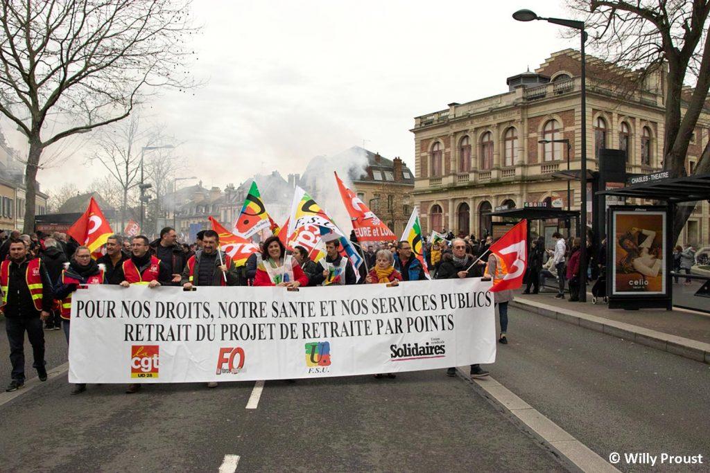 Chartres 17-12-2019 Manifestation Retraites [Photo Willy Proust] 02