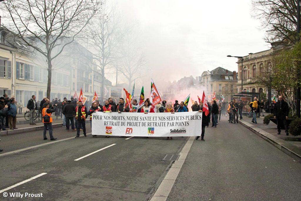 Chartres 17-12-2019 Manifestation Retraites [Photo Willy Proust] 03