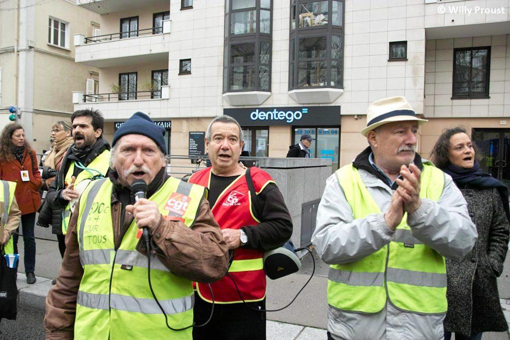 Chartres 17-12-2019 Manifestation Retraites [Photo Willy Proust] 05