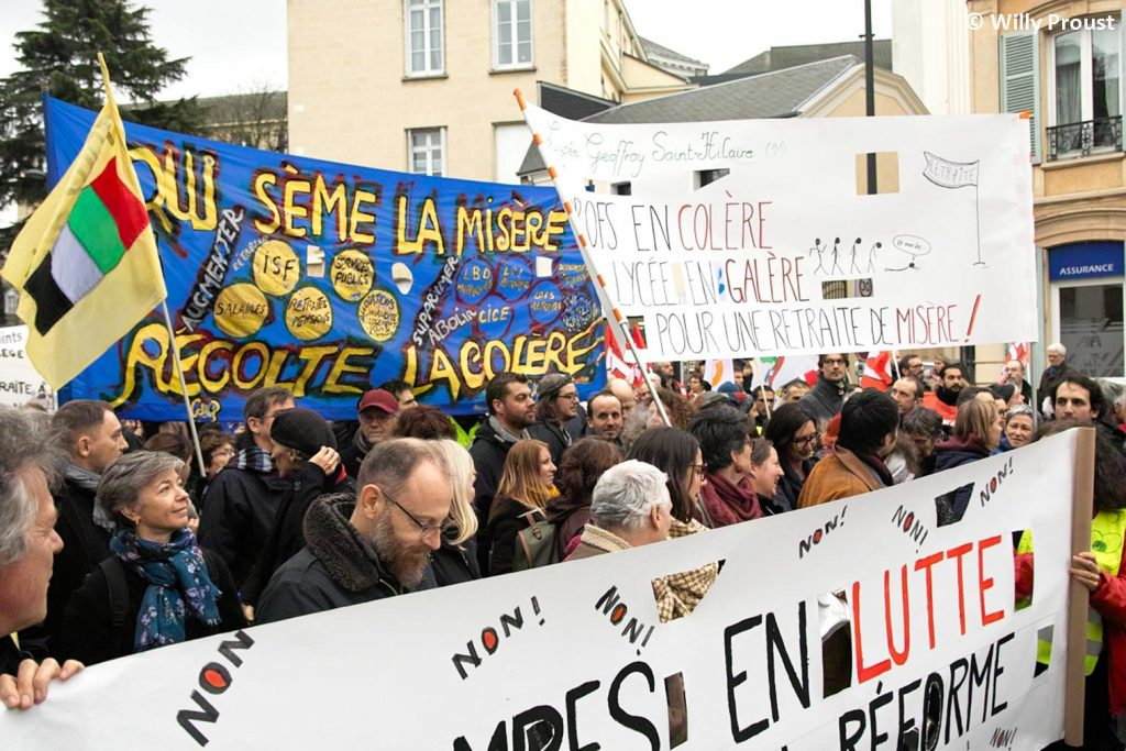 Chartres 17-12-2019 Manifestation Retraites [Photo Willy Proust] 08