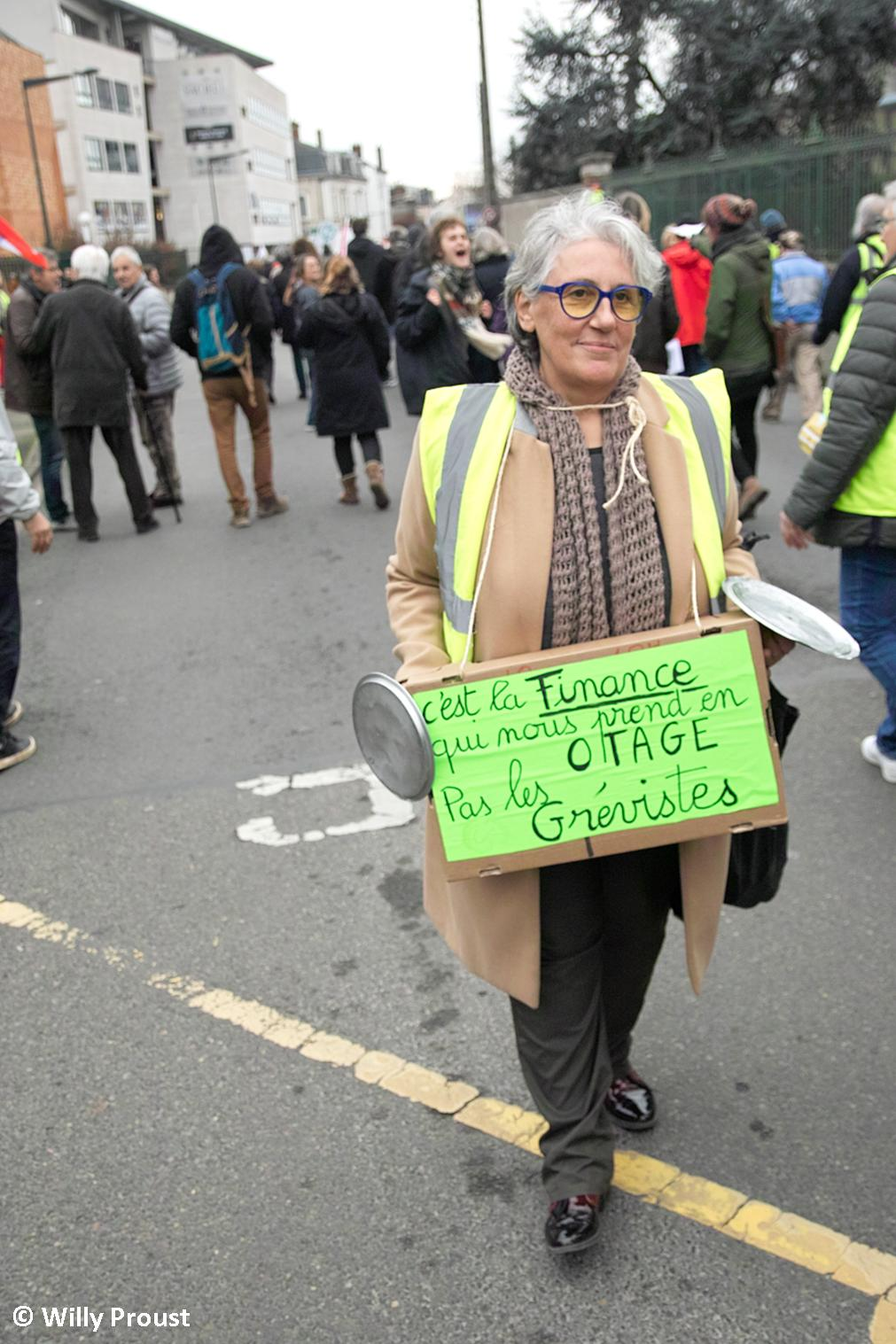 Chartres 17-12-2019 Manifestation Retraites [Photo Willy Proust] 13