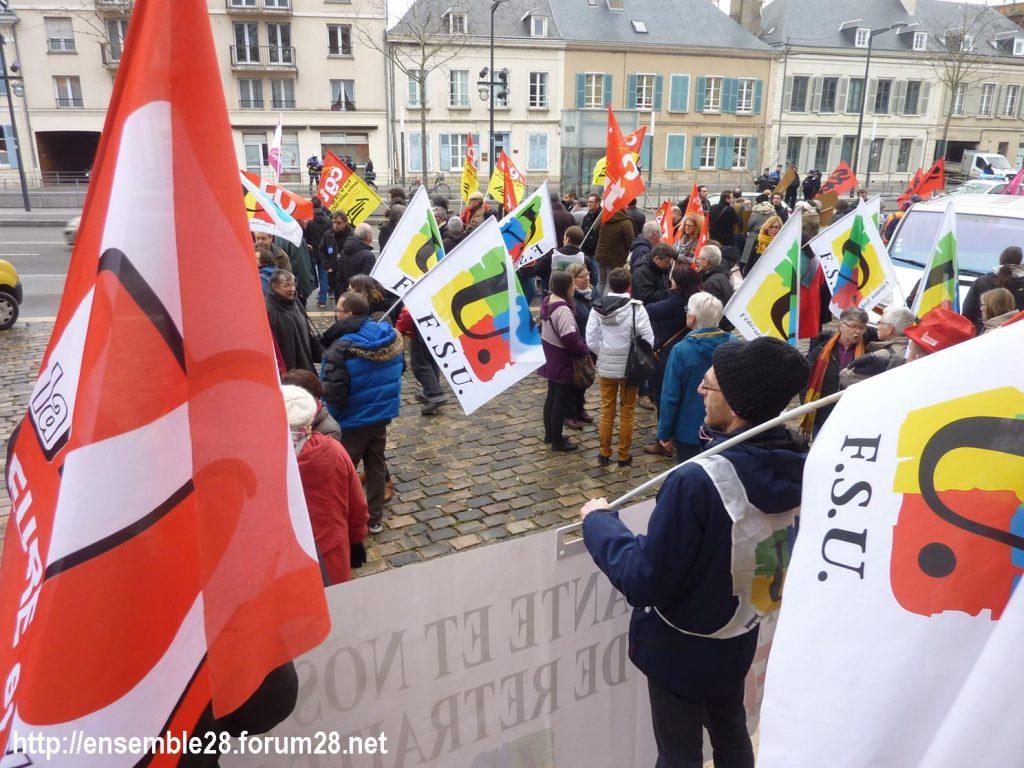 Chartres 19-12-2019 Rassemblement Retraites 01