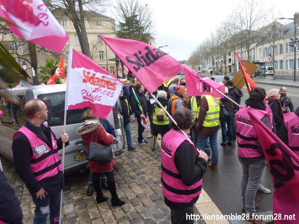 Chartres 19-12-2019 Rassemblement Retraites 02