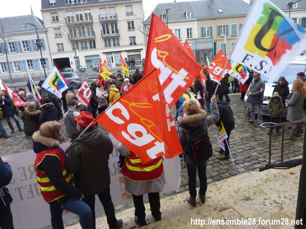 Chartres 19-12-2019 Rassemblement Retraites 05