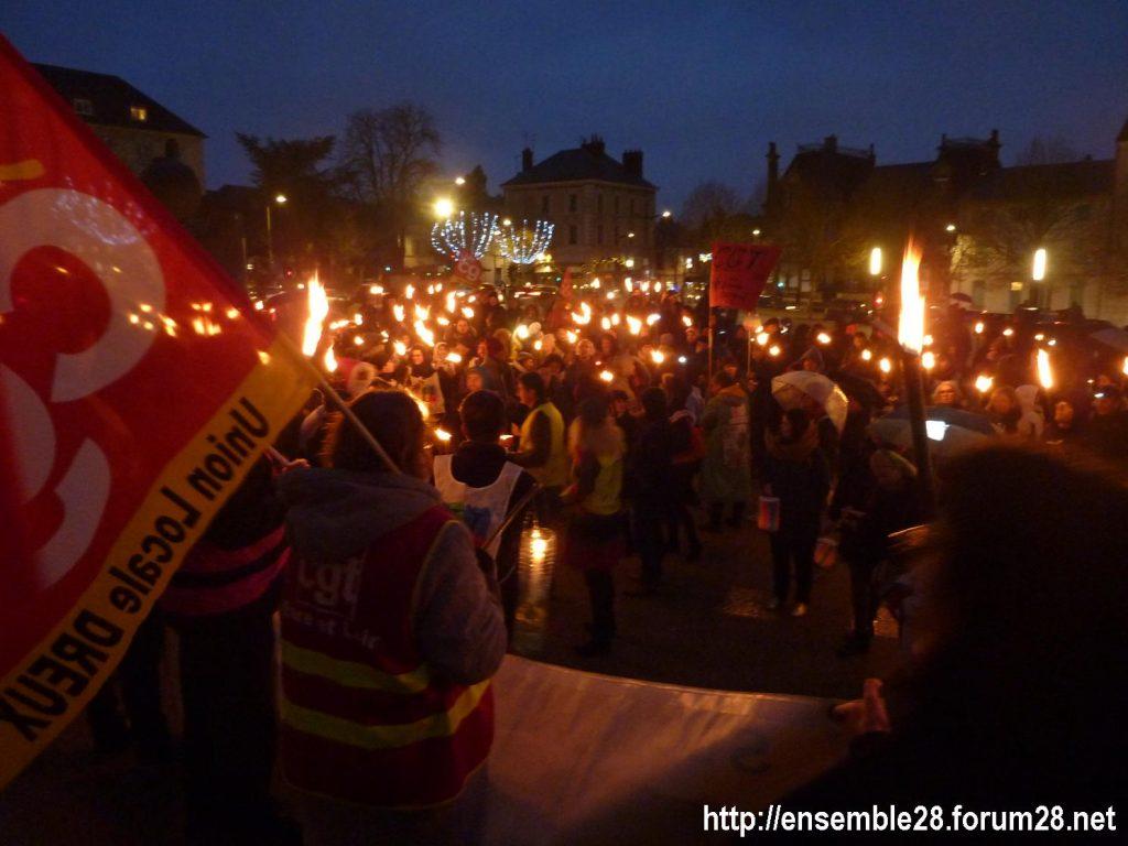 Chartres 21-12-2019 Manifestation Nos-Retraites-aux-flambeaux 07
