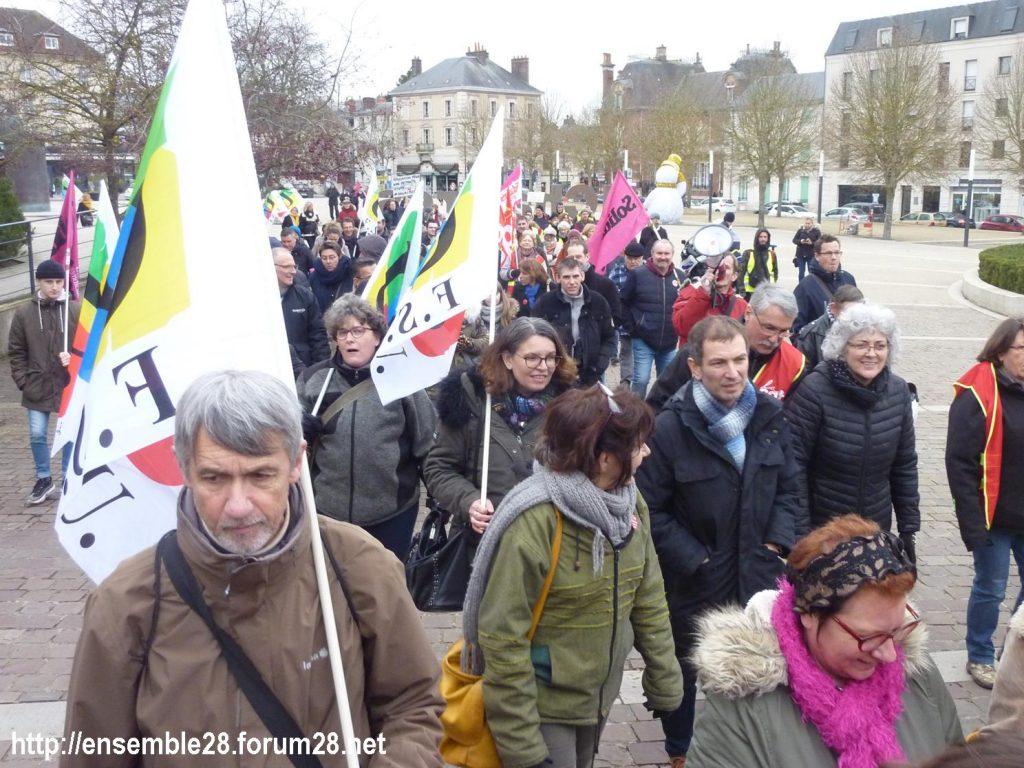 Chartres 28-12-2019 Rassemblement-Manifestation Retraites 02