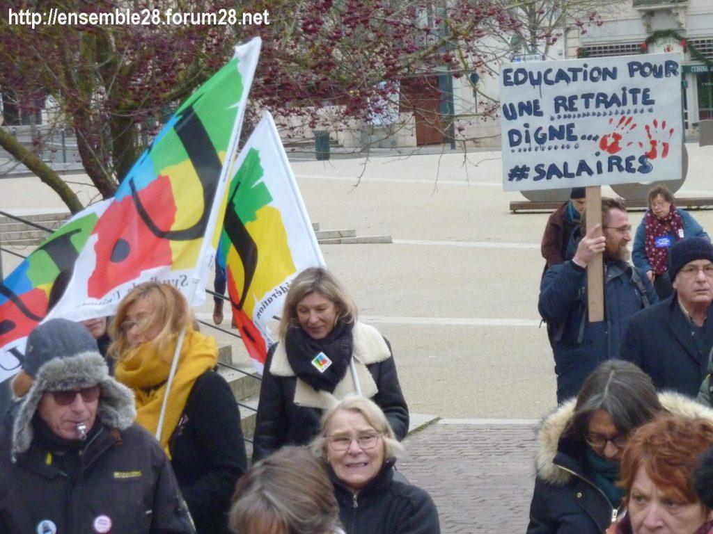Chartres 28-12-2019 Rassemblement-Manifestation Retraites 04