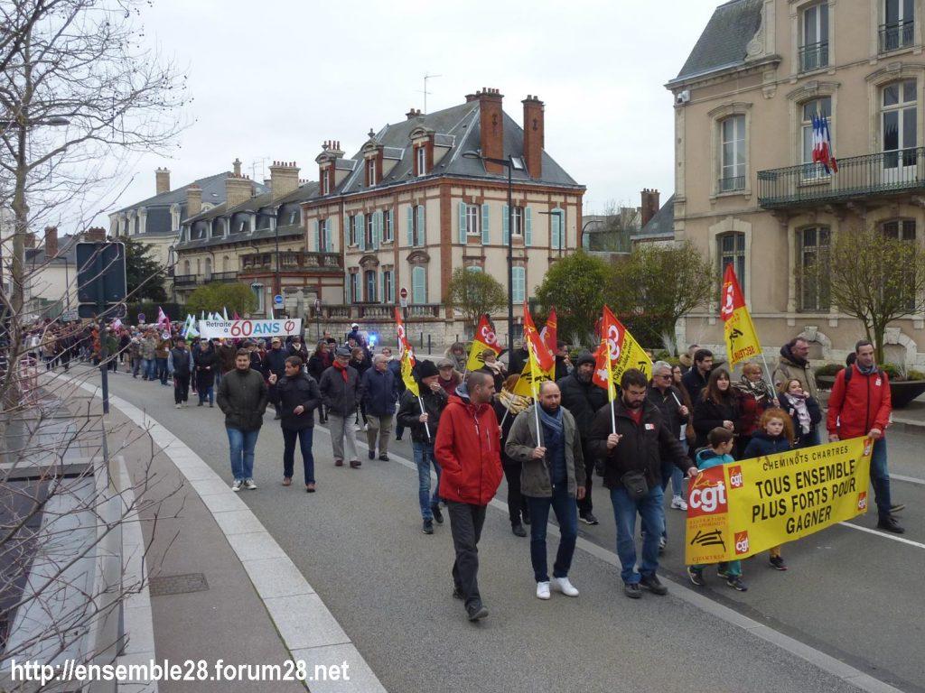 Chartres 28-12-2019 Rassemblement-Manifestation Retraites 06