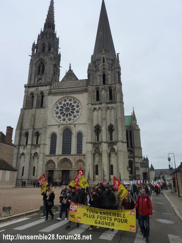 Chartres 28-12-2019 Rassemblement-Manifestation Retraites 08