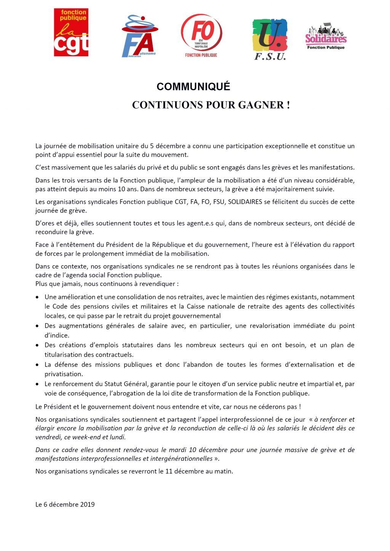 Communiqué national-unitaire-FP-du-06-12-2019