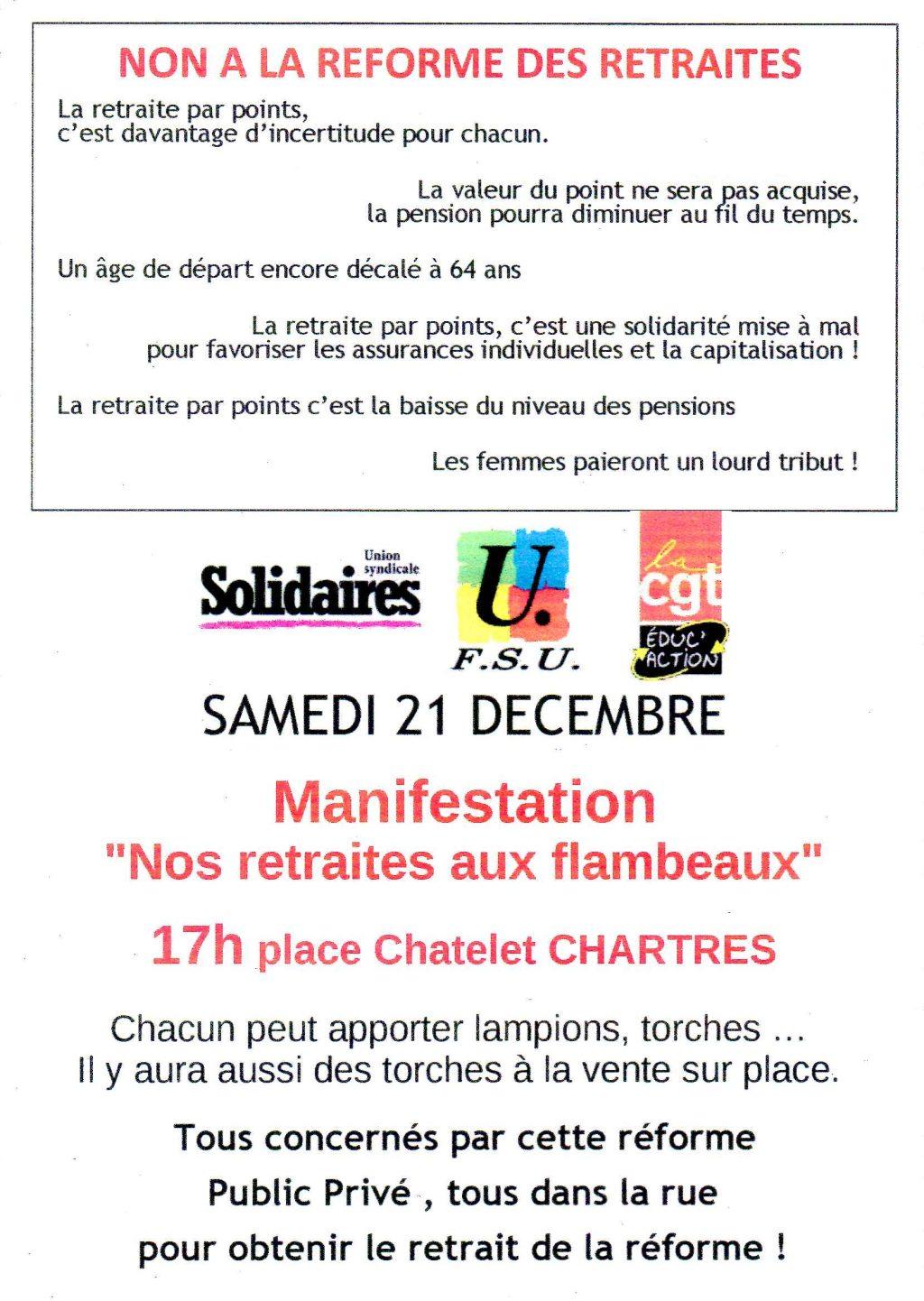 Nos retraites aux flambeaux 21-12-2019 [Flyer]