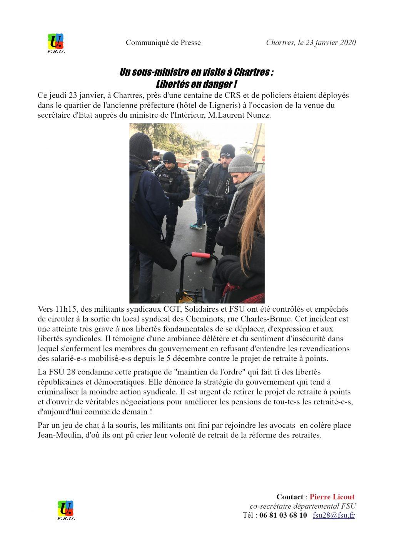 2020 01 23 CP FSU28 Nunez à Chartres