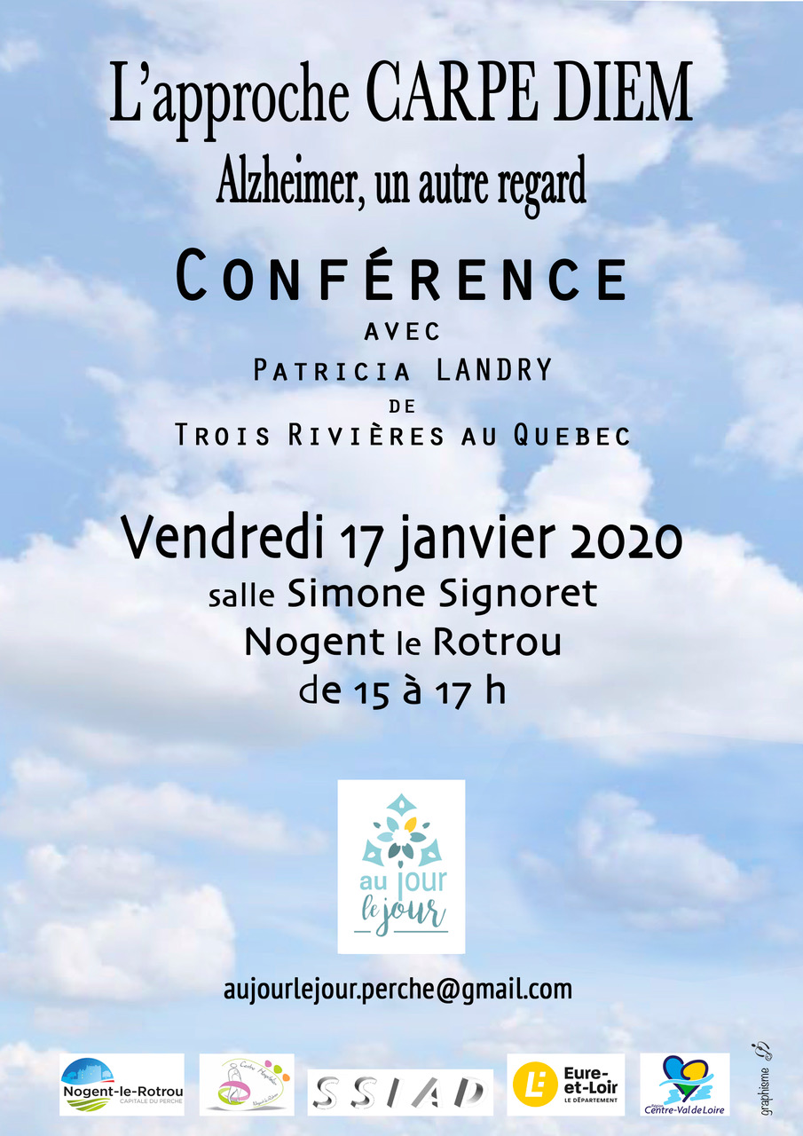 Alzheimer Conférence Carpe-diem Landry Nogent-le-Rotrou [Affiche]