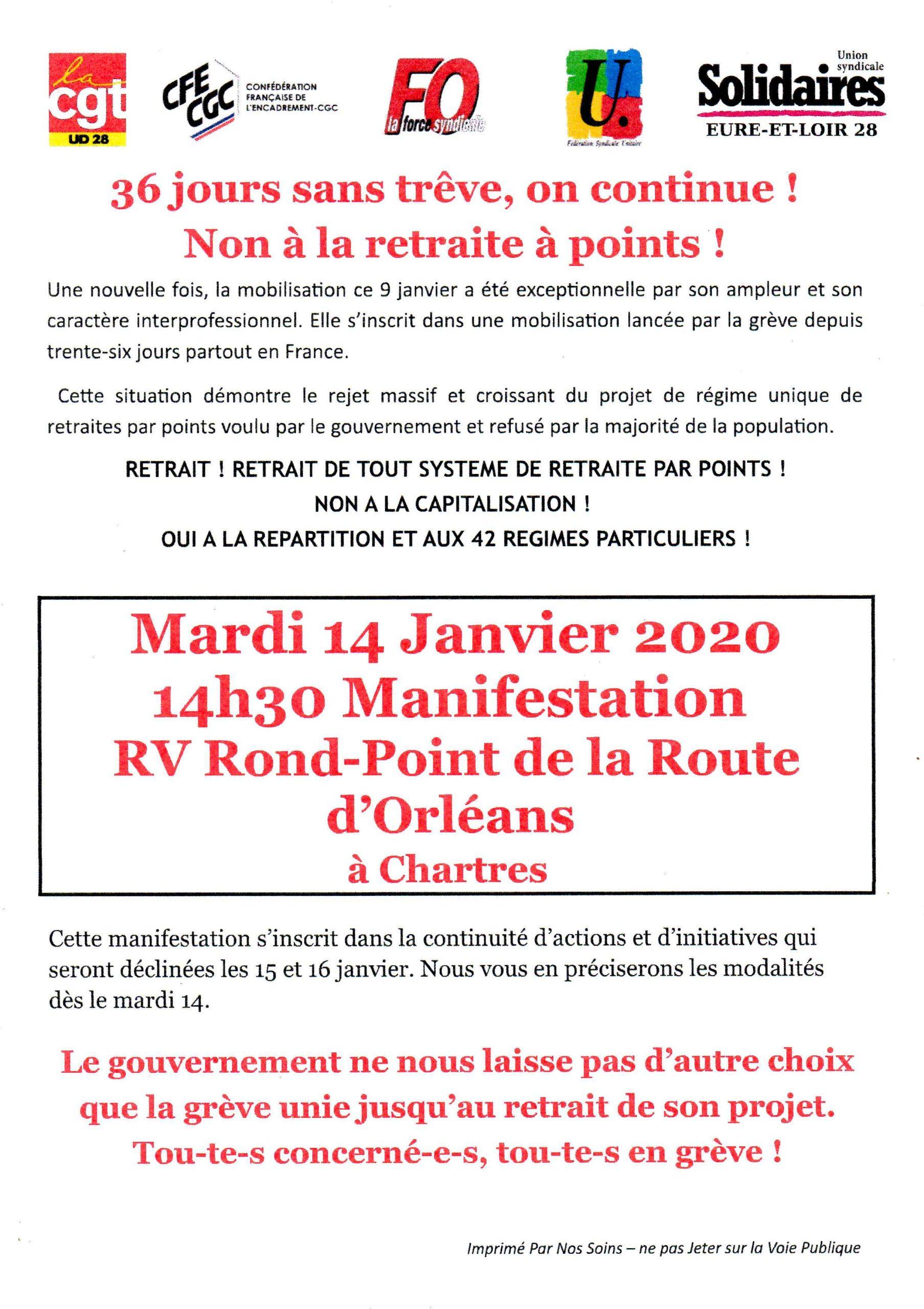 Appel Intersyndicale 28 Retraites pour Manifestation du 14-01-2020342