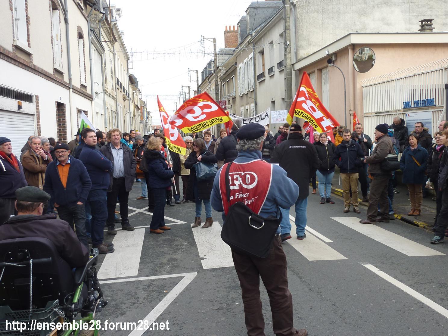 Châteaudun 17-12-2019Manifestation Retraites X