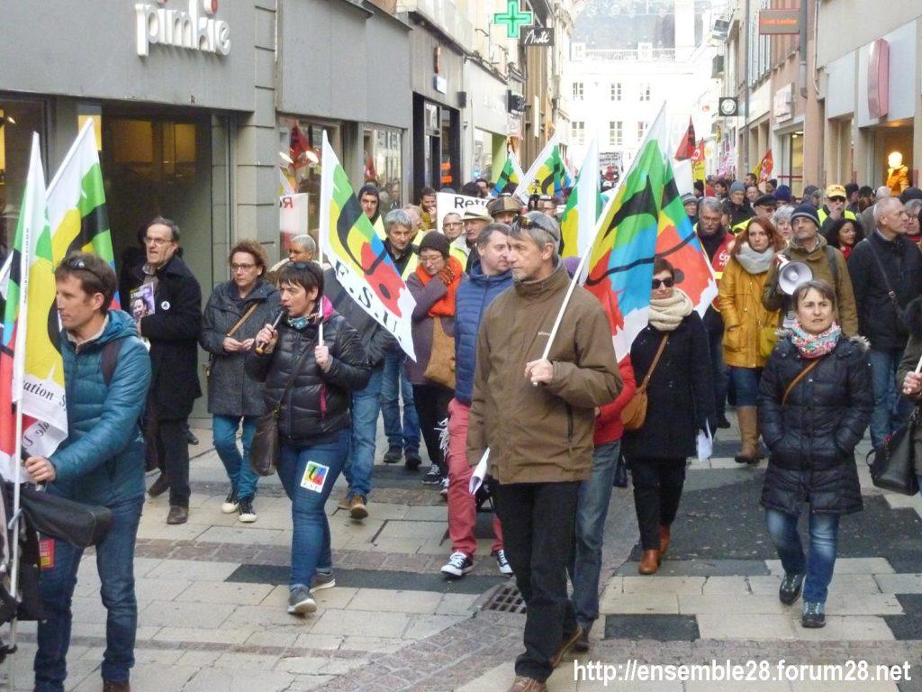 Chartres 04-01-2020 Rassemblement Manifestation Retraites 00