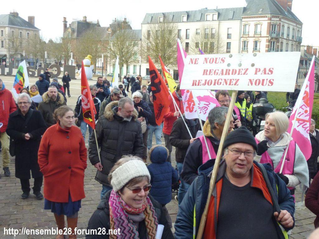 Chartres 04-01-2020 Rassemblement Manifestation Retraites 03
