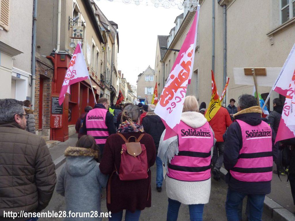 Chartres 04-01-2020 Rassemblement Manifestation Retraites 04