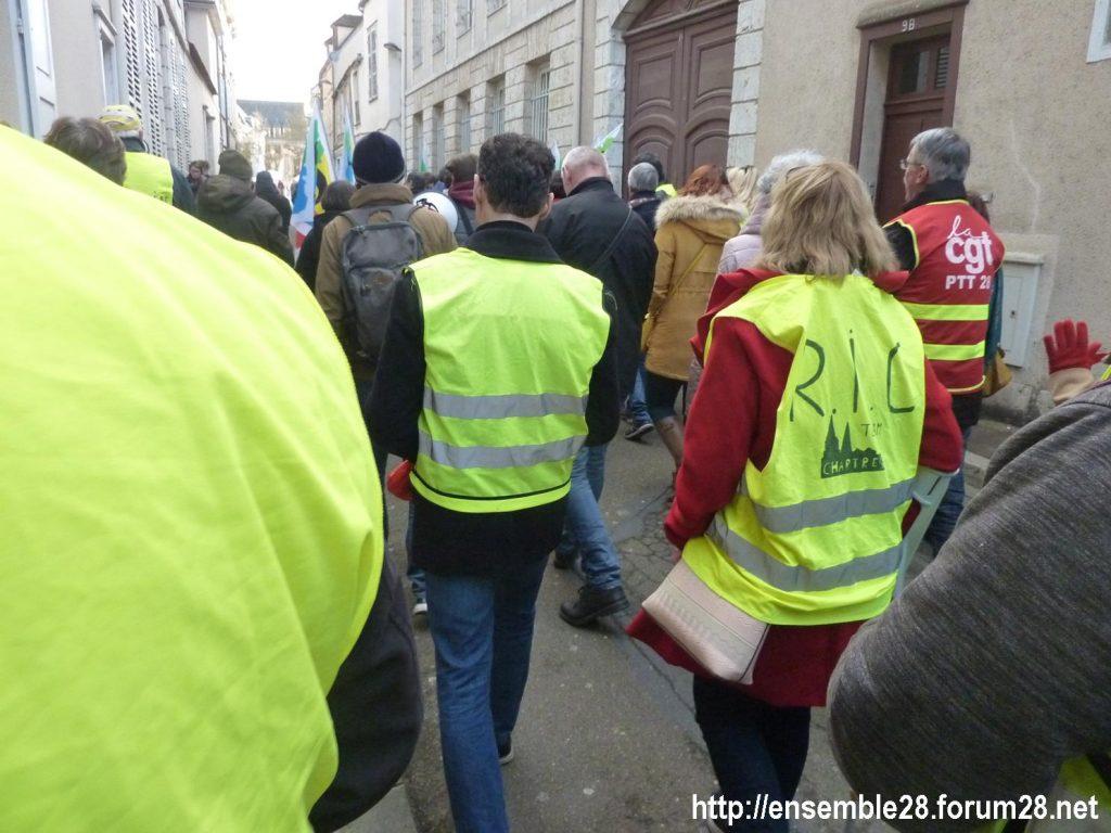 Chartres 04-01-2020 Rassemblement Manifestation Retraites 05