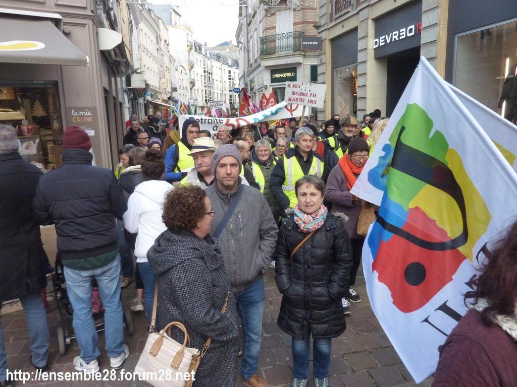 Chartres 04-01-2020 Rassemblement Manifestation Retraites 06