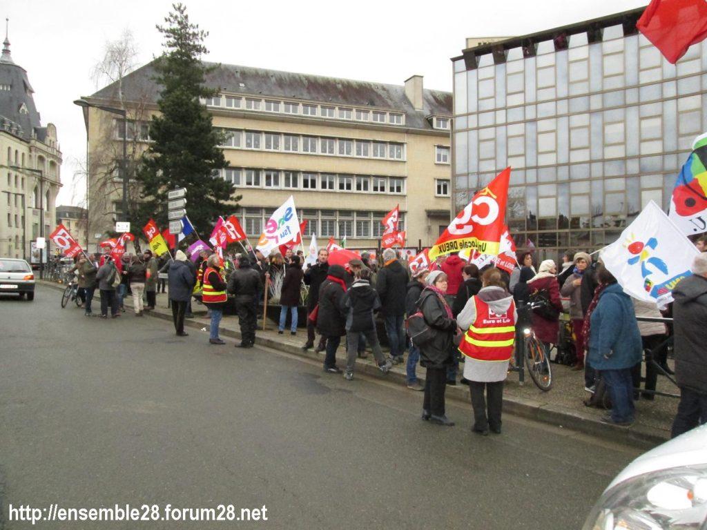 Chartres 15-01-2020 Manifestation Retraites 01