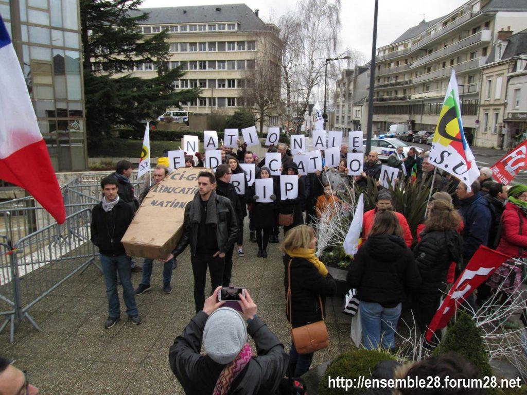 Chartres 15-01-2020 Manifestation Retraites 03