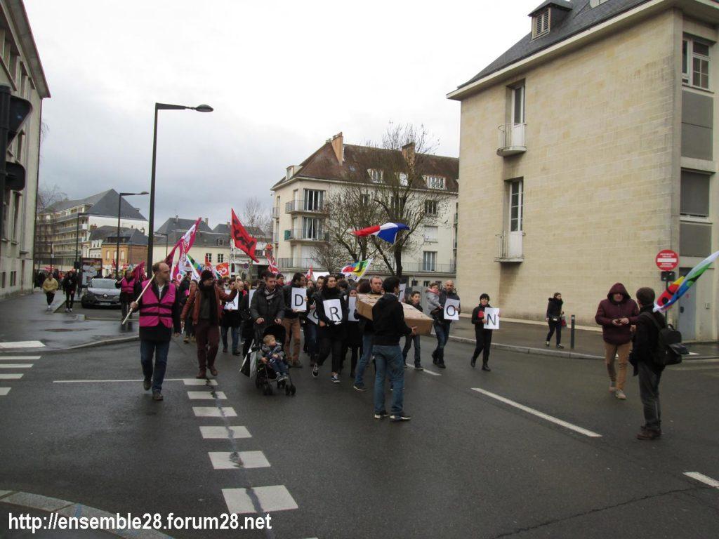 Chartres 15-01-2020 Manifestation Retraites 06