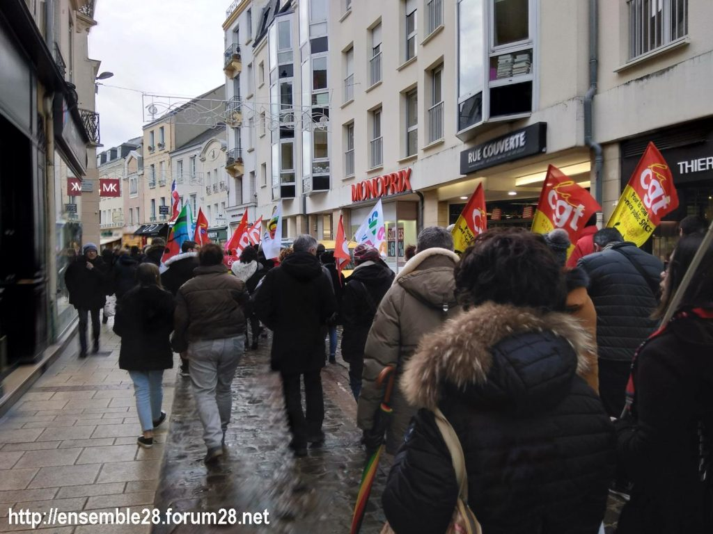 Chartres 15-01-2020 Manifestation Retraites 08