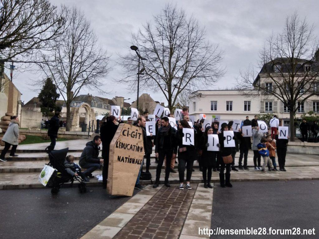 Chartres 15-01-2020 Manifestation Retraites 10