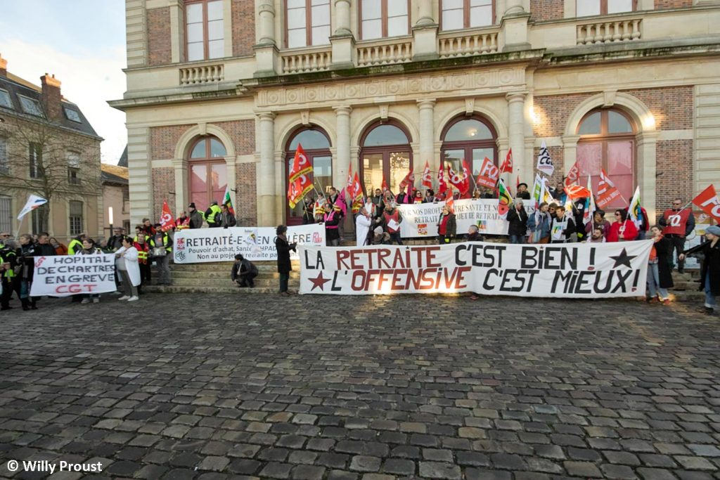 Chartres 16-01-2020 Manifestation Retraites 20 [©Willy Proust]