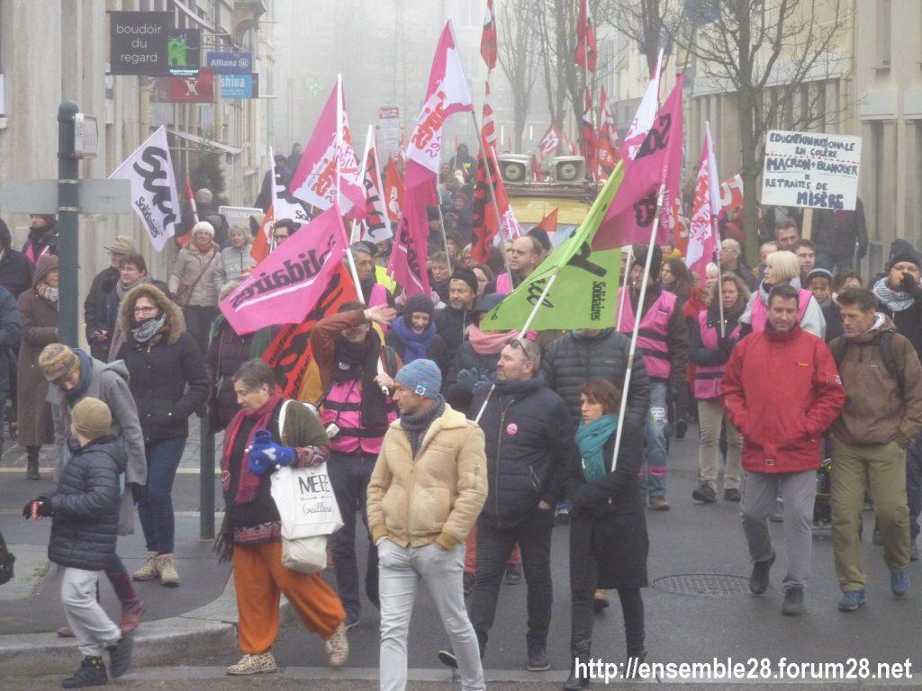 Chartres 24-01-2020 Manifestation Retraites 09