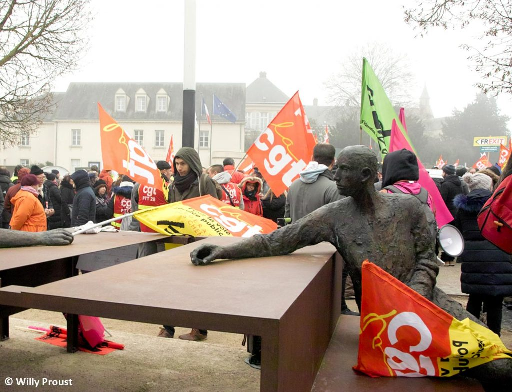 Chartres 24-01-2020 Manifestation Retraites 19 [©Willy Proust]