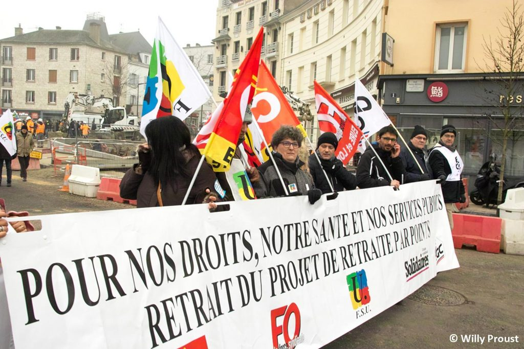 Chartres 24-01-2020 Manifestation Retraites 20 [©Willy Proust]
