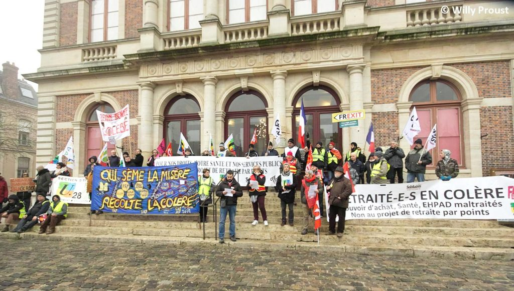 Chartres 24-01-2020 Manifestation Retraites 22 [©Willy Proust]